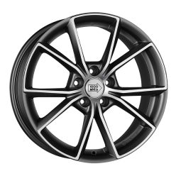 1000 MIGLIA MM035 Matt Anthracite Polished 8x18/5x112 ET39 D66.6