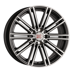 1000 MIGLIA MM1005 Dark Anthracite Polished 7.5x17/5x112 ET45 D66.6