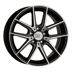 1000 MIGLIA MM041 Black Polished 6.5x16/5x112 ET42 D57.1