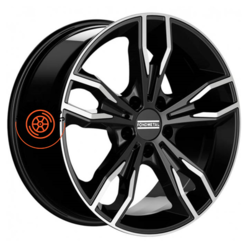 Fondmetal Alke Gloss Black Machined 8x18/5x112 ET30 D66.5