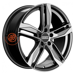 Fondmetal Hexis Gloss Black Machined 8x18/5x112 ET29 D66.5