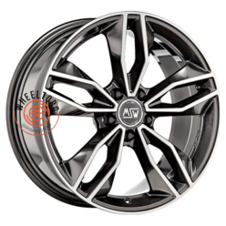 MSW 71 Gloss Dark Grey Full Polished 7.5x17/5x108 ET45 D73