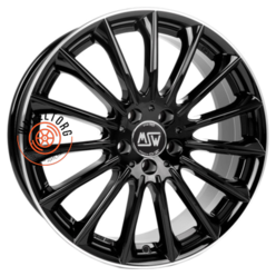 MSW 30 Gloss Black+Diamond Lip 7.5x17/5x112 ET35 D73