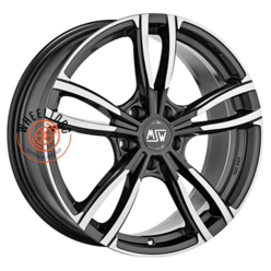 MSW 73 Gloss Dark Grey Full Polished 7.5x17/5x112 ET24 D73
