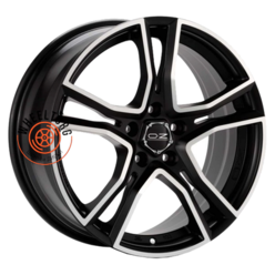 OZ Adrenalina Matt Black + Diamond Cut 8x17/5x114.3 ET45 D75
