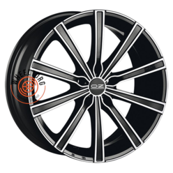 OZ Lounge 10 Matt Black + Diamond Cut 7.5x17/5x112 ET50 D75
