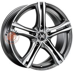 OZ X5B Matt Graphite Diamond Cut 7.5x17/5x120 ET29 D79