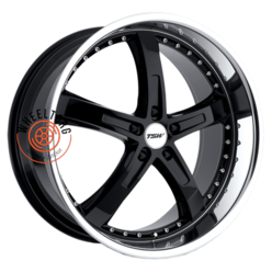 TSW Jarama Gloss Black Mirror Cut Lip 8x18/5x112 ET32 D72